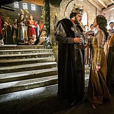 #KingAelle (#IvanKaye) with #Judith (#JennieJacques) when he discovered her liaison with #KingEcbert around #Christmas in #Vikings #season4A. Found on Twitter, cropped & reworked a bit. Anyone knows who to credit? #PrinceAethelwulf (#moedunford) and #QueenKwentrith (#AmyBailey) in the background to the left.  #vikingsfamily #vikingsfans #FromEveryEpisode #S04E05 #fornication #fatherinlaw #daughterinlaw #furiousfather #helplesswrath #smashingcups #embarrassment #ignoringrules #kingaelleandwome... Vikings Show, Vikings Tv, Series Movies, Tv Series, Viking Character, Cool Pictures, Fandoms, Twitter, Christmas