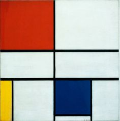 Piet Mondrian, Composition C (no. III), with Red, Yellow and Blue, Image courtesy of Mondrian/Holtzman Trust Piet Mondrian, Abstract Styles, Abstract Art, Abstract Paintings, Theo Van Doesburg, Three Primary Colors, Dutch Painters, Kandinsky, Art Abstrait