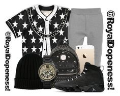 """""""Trap_King...!"""" by royaldopeness ❤ liked on Polyvore featuring Acne Studios, MCM, Dolce&Gabbana, Michael Kors, blackandwhite, thuglife, Boy, 2015 and royal_dopeness"""