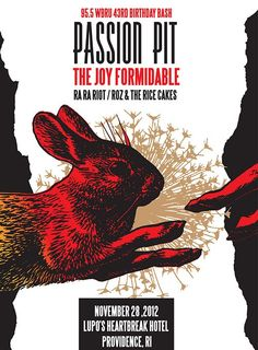passion pit music  posters | Flier from WBRU's Birthday Bash w/ Passion Pit