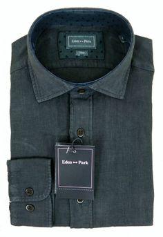 Eden Park Linen Charcoal Shirt - £95 with FREE UK Delivery #Linen #Mens #Fashion #EdenPark #Summer