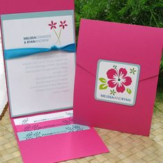 Love these tropical invitations