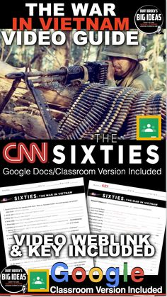 Teaching American History, American History Lessons, Teaching History, History Lesson Plans, Social Studies Lesson Plans, Google Docs Classroom, Absent Students, Video Link, Vietnam War