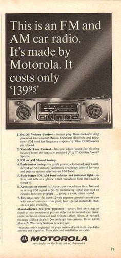 1964 Motorola Car Radio Advertisement Time Magazine October 16 1964 | Flickr - Photo Sharing!