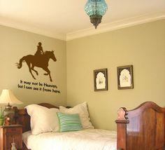 Horse decalHorse quote decalVinyl wall by aluckyhorseshoe on Etsy, $25.00