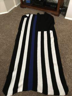 Thin Blue Line Afghan Crochet I Have Made Pinterest