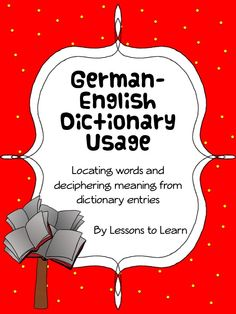 This German Dictionary Unit is designed to help students both find words in a translation dictionary, and make sense of the dictionary entries. This unit is designed for use in initial instruction of dictionary usage, and for ongoing reinforcement of vocabulary and word meaning. Reinforcement activities can be used throughout the school year. $4