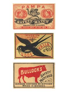 Designspiration — Vintage matchboxes from around the world