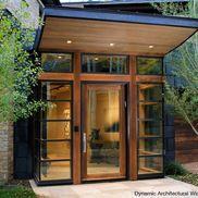 Modern Entry Door with Corner Sidelites