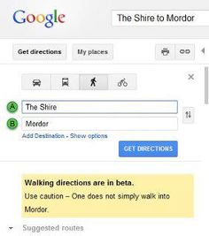 """From a fan. I verified this myself-- be sure to click the """"Walk"""" option."""