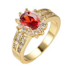 5-0-ct-Red-Ruby-CZ-Gem-Wedding-Ring-Sz5-12-Womens-Jewelry-10K-Yellow-Gold-Filled