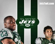 Shonn Greene and Mark Sanchez from the New York Jets