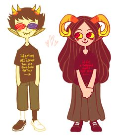 <3 Sollux and Aradia <3 #Homestuck
