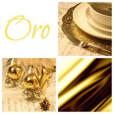 Golden Xmas table setting