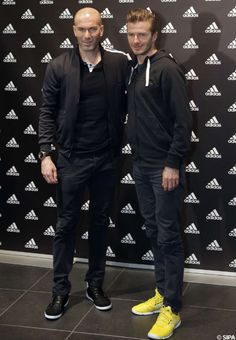 Zinedine Zidane et David Beckham, complices