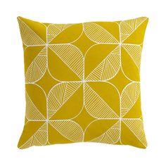Rosette Cushion - Mustard