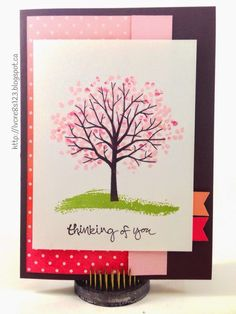 Linda Vich Creates: Sale-a-Bration, 2015 Occasions Catalog and Sweet Sunday Sketch Challenge. Sheltering Tree nestled on Irresistibly Yours Sponged Gradient for the Sweet Sunday Sketch Challenge 250.