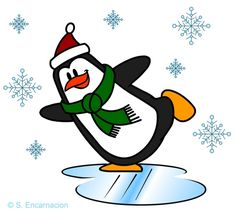 Draw an Ice Skating Penguin in 11 Easy Steps: A Cartoon Penguin, Skating on Ice