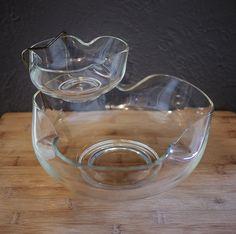 Vintage Anchor Hocking Clear Glass Chips & by KitschyKitschyYAYAYE, $27.00