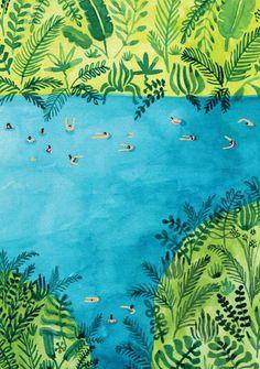 Waterhole 2 Print By Helo Birdie