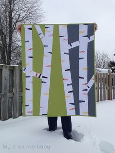 Modern Birch Tree Quilt (Modern Quilt Guild Riley Blake Challenge Quilt) | Lay It On Me Baby