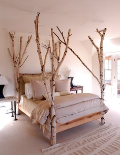 Unique Wood Birch Bed With Headboards | The Best Wood Furniture
