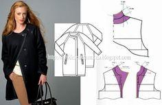 Collar , jacket , patterns instructions