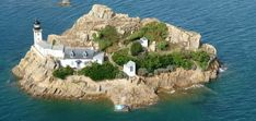 Ile Louët, a private lighthouse island with cottage in Brittany, France