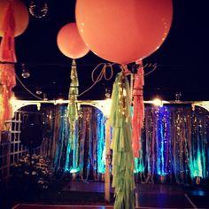 wedding balloons and streamer walls