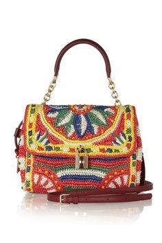 Dolce & Gabbana woven raffia bag
