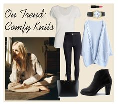 """""""On Trend: Comfy Knits"""" by teennetwork ❤ liked on Polyvore featuring American Vintage, H&M, Django & Juliette, Yves Saint Laurent, Topshop, Smashbox, women's clothing, women, female and woman"""