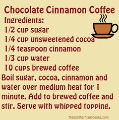 Coffee and Chocolate!