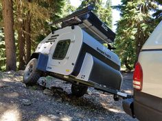 Oregon Trail'R Home Page: See pictures of our Teardrop Trailers and learn more about each model. Cargo Trailer Camper, Camper Caravan, Cargo Trailers, Jeep Truck, Truck Camper, Teardrop Trailer, Get Outside, Motorhome, Recreational Vehicles