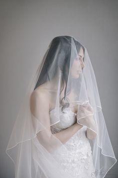Beautiful Bridal Portrait by Sarah DiCicco Pre-Ceremony Wedding portrait with veil.