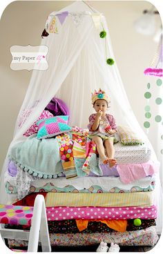 Princess And The Pea Party - Kara's Party Ideas - The Place for All Things Party www.KarasPartyIdeas.com
