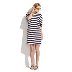 Les Prairies de Paris™ Stripe Knit Dress.  Would look super cute with some heels and a belt!