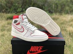 buy popular dfca4 fafea 2019 Air Jordan 1 Retro High OG Sail Black-Phantom-University Red Online  555088