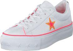 One Star Platform White / Racer Pink / Orange | Skor för alla tillfällen | Footway