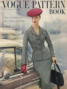 Evelyn Tripp for Vogue Pattern Book, 1955 Grey Fashion, 1950s Fashion, Fashion Photo, Fashion Models, Vintage Fashion, Vintage Couture, Classy Fashion, Winter Fashion, Fashion Tips