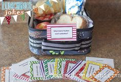 Printable Lunchbox Jokes #backtoschool