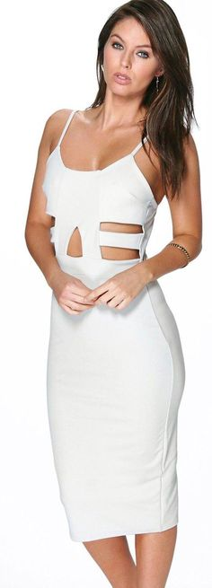 Delia Cut Out Detail Midi Bodycon Dress - Dresses  - Street Style, Fashion Looks And Outfit Ideas For Spring And Summer 2017