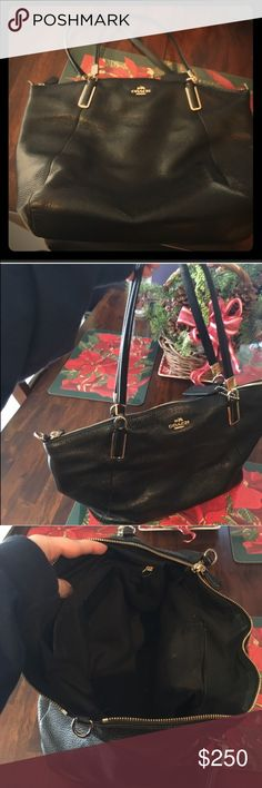 Black Leather Coach Bag Barely used genuine black leather coach bag. In great condition. Coach Bags