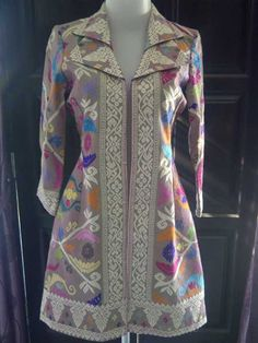 Kain Songket Bali Blazer Batik, Blouse Batik, Batik Fashion, Ethnic Fashion, African Fashion, Model Dress Batik, Batik Dress, White Shirts Women, Blouses For Women