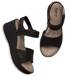 23c36827516 Athleta Lucee Wedge Sandal by Born® Black Wedge Sandals