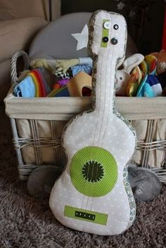 Stuffed plushy guitar
