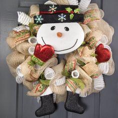 Snowman Wreath Embellishment Kit 5 Pieces - head, arms, legs ...