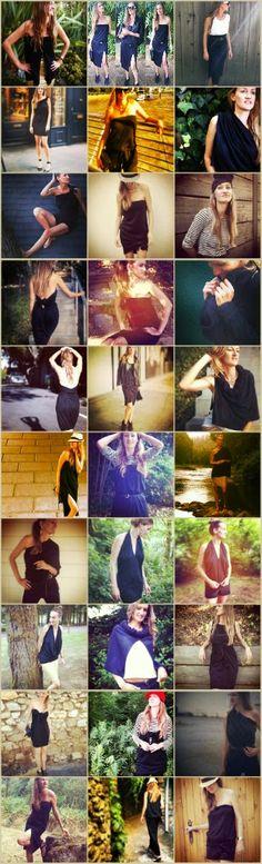 Une jupe longue noire fendue en jersey + quelques hauts et quelques bas = 21 looks de vacances! (Béa Johnson)