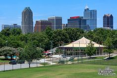 24 foot tripod view of Chavis Park Carousel and skyline
