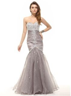 Special Occasion Dresses - $206.99 - Mermaid Sweetheart Floor-Length Organza Prom Dress With Ruffle Beading  http://www.dressfirst.com/Mermaid-Sweetheart-Floor-Length-Organza-Prom-Dress-With-Ruffle-Beading-018016098-g16098