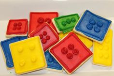 Great idea lego cookies, might make these for Graham's second Birthday Party